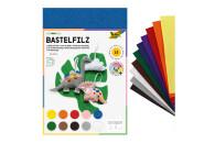 Folia Bastelfilz 20 x 30cm 10 Stück in 10 Farben