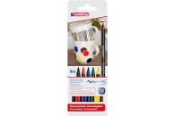 edding Porzellan Pinselstifte Brushpen 1-4mm 6 Stück...