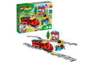 LEGO® 10874 DUPLO Dampfeisenbahn, Spielzeugeisenbahn mit Licht & Geräuschen und batteriebetriebenem Push-&-Go-Motor, Spielzeug für Kleinkinder ab 2 Jahre