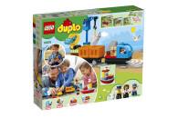 """LEGO® 10875 DUPLO Güterzug, """"Push & Go""""-Lok mit Lichtern und Geräuschen, Funktionssteinen und 2 Kranen, Spielzeug für Kinder ab 2 Jahre"""