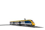 LEGO® 60197 City Personenzug mit batteriebetriebenem Motor, ferngesteuertes Set mit Bluetooth-Verbindung, Schienen und Zubehör
