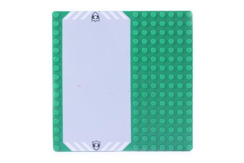 LEGO® Bauplatte 16x16 grün / Rasen Grundplatte mit Polizei Parkplatz