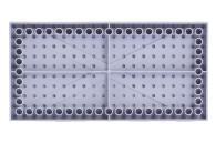 LEGO® Bauplatte 10x20 grau Grundplatte mit Kanten (hoch)