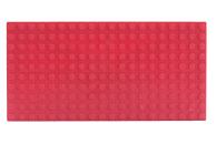 LEGO® Bauplatte 10x20 rot Grundplatte mit Kanten (hoch)