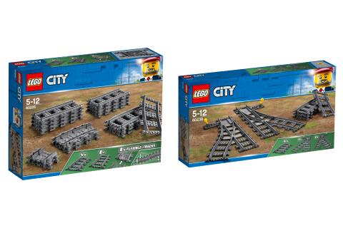 LEGO® City 2er Set: 60205 Schienen + 60238 Weichen