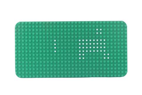 LEGO® Bauplatte 16x32 grün Grundplatte runde Ecken und weißer Markierung