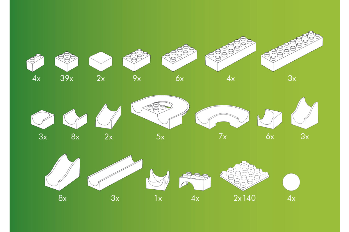 123-teilig Baukasten basis Baukästen & Konstruktion