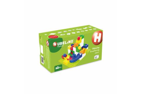 Weiche für die Hubelino Kugelbahn 420497 (43-teilige Erweiterung)