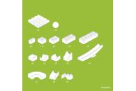 Wippe für die Hubelino Kugelbahn 420503 (45-teilige Erweiterung)