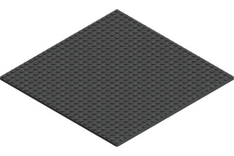 Hubelino pi Grundplatte schwarz 440037