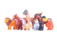 5 Playmobil Tiere - Konvolut / Geobra Tiere bunt gemischt