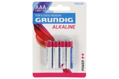 4 GRUNDIG-Alkaline Batterien AAA/LR03 1,5V