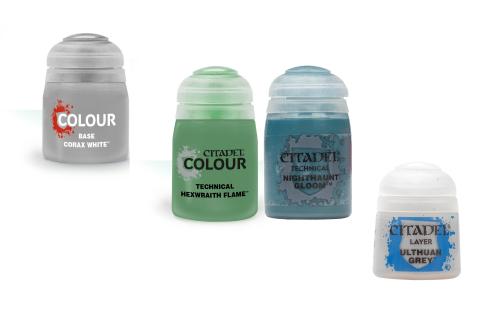 Citadel Farbset für Verhextes Blau: Base + Layer + 2x Technical