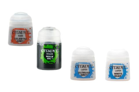 Citadel Farbset für Verstaubtes Weiß: Base + Shade + 2x Layer