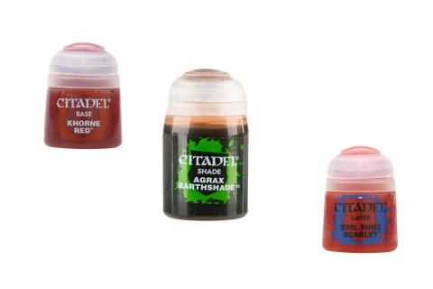Citadel Farbset für Vergossenes Blut: Base + Shade + Layer
