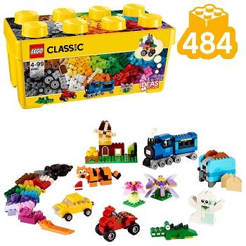 LEGO® 10696 Classic Mittelgroße Bausteine-Box, Lernspielzeug, einfache Aufbewahrung, Geschenk für LEGO® Fans Minifigs