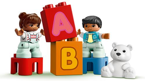 LEGO® 10915 DUPLO Mein erster ABC-Lastwagen, Spielzeug für Kleinkinder im Alter von 1,5 Jahren, Buchstabensteine zum Lernen Minifigs