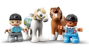 LEGO® DUPLO® Town 10951 Pferdestall und Ponypflege Minifigs