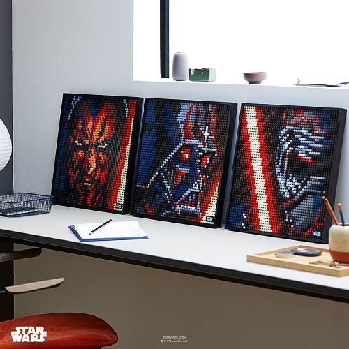LEGO® 31200 Art Star Wars The Sith - Kunstbild, Poster und Wanddeko zum Basteln, DIY Puzzle für Erwachsene, tolles Geschenk Minifigs