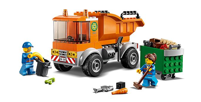 LEGO® 60220 City Müllabfuhr, Spielzeugauto für Kinder ab 4 Jahre, Fahrzeug, Müllwagen mit Minifiguren und weiterem Zubehör Minifigs
