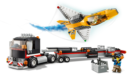 LEGO® 60289 City Flugshow-Jet-Transporter, Spielzeug-Set mit Flugzeug und Anhänger, Geschenk für Kinder ab 5 Jahre Minifigs