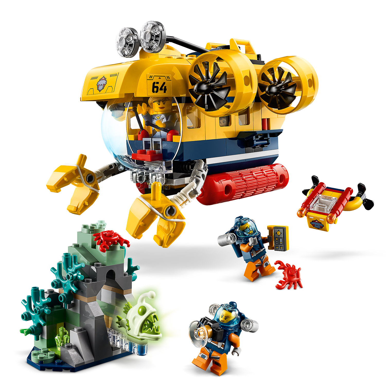 LEGO® City 60264 Meeresforschungs-U-Boot Minifigs