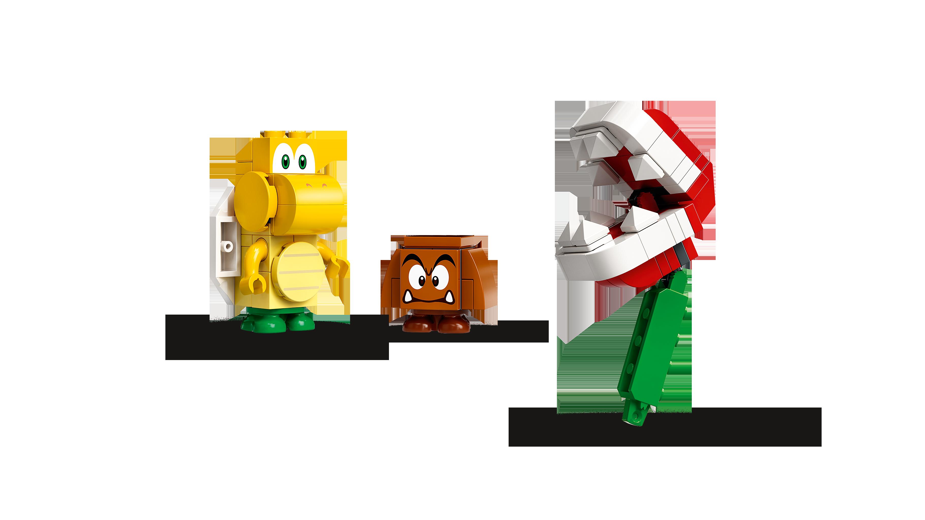 LEGO® 71365 Super Mario Piranha-Pflanze-Powerwippe – Erweiterungsset, Bauspiel Minifigs